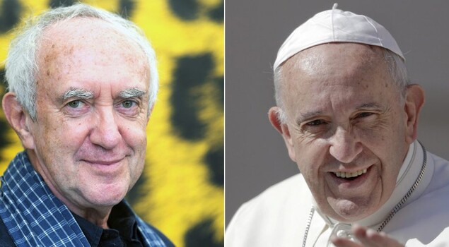 Risultati immagini per jonathan pryce papa francesco