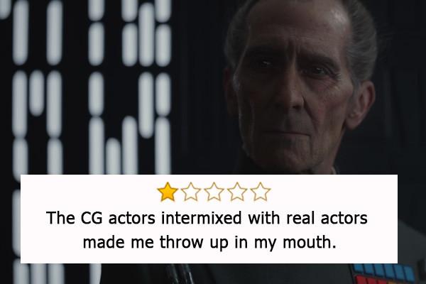 Rogue One: A Star Wars Story, candidato come Migliori effetti speciali e Miglior sonoro. - «Gli attori in CGI misti ad attori reali mi ha...