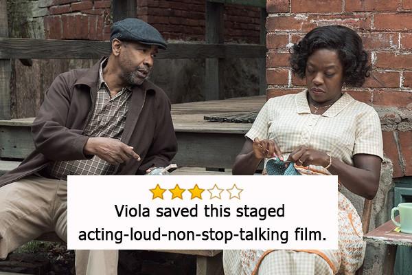 Barriere, Oscar a Viola Davis come Miglior attrice non protagonista - «Viola ha salvato questo film recitato a voce alta e con troppi dia...