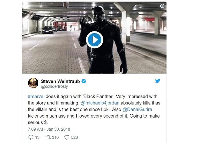 [Steven Weintraub - Collider] La Marvel ce l'ha fatta di nuovo. Sono molto impressionato dalla storia e dalla realizzazione. Michael...