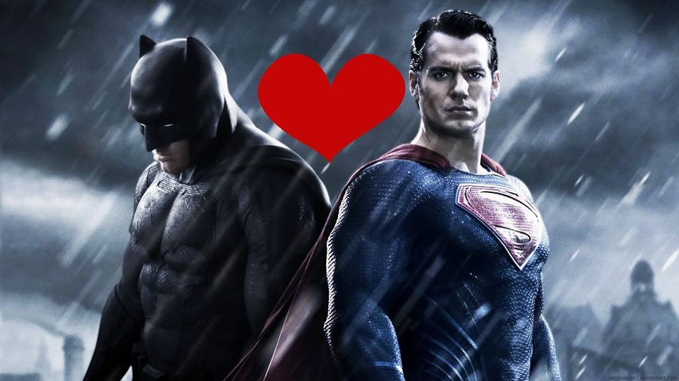 Justice League diventa una love story tra Batman e Superman nel promo  ufficiale di San Valentino d7af546a1ce