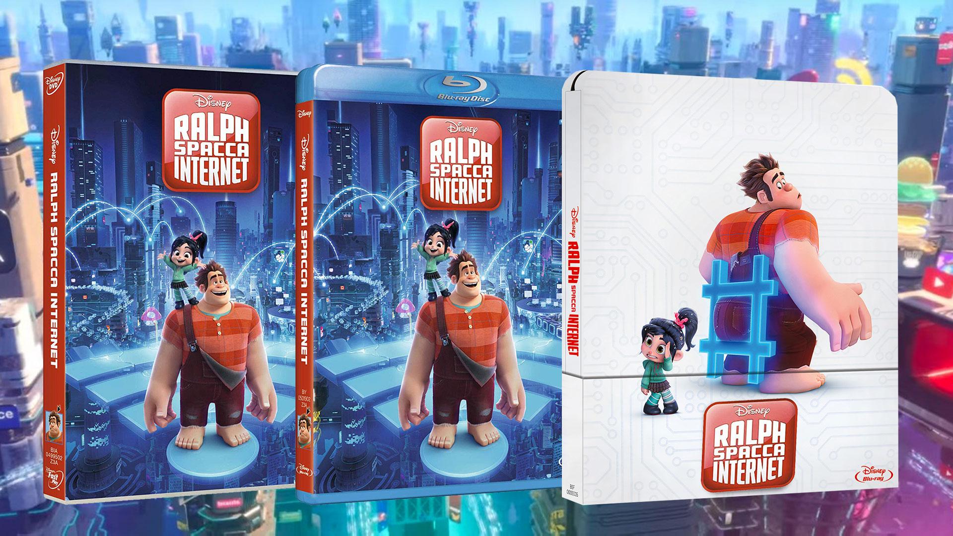ralph spacca internet dvd  Ralph Spacca Internet Blu-ray: data di uscita, pack e contenuti extra