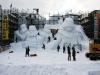Scultura di neve di Star Wars!