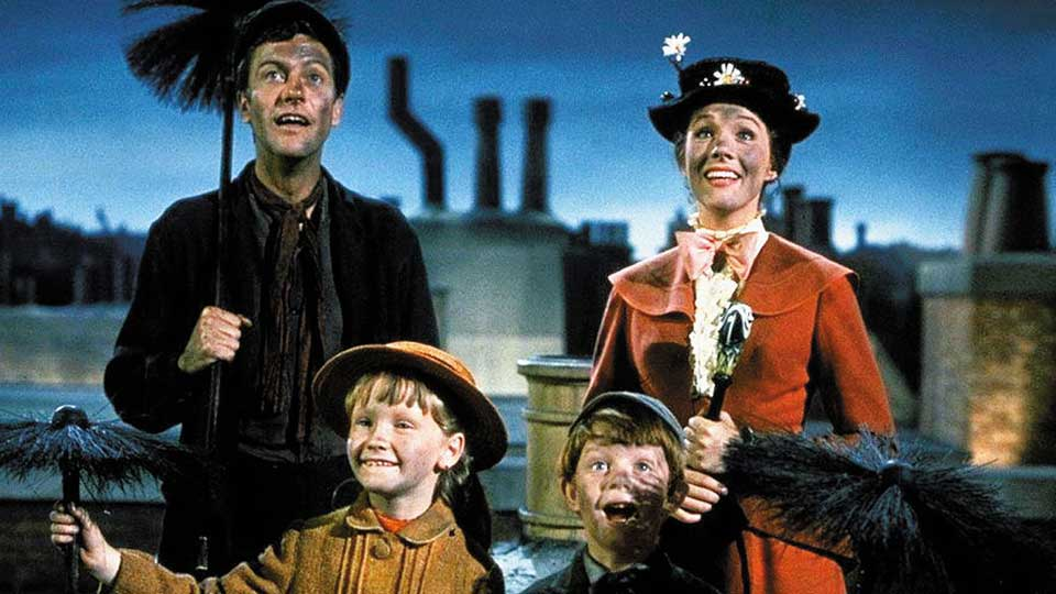 mary poppins, classico, live action, Disney, Dick Van Dyke, Julie Andrews