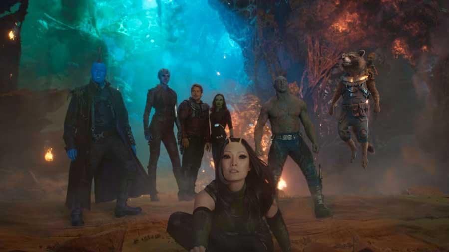Il team al completo di Guardiani della Galassia Vol. 2