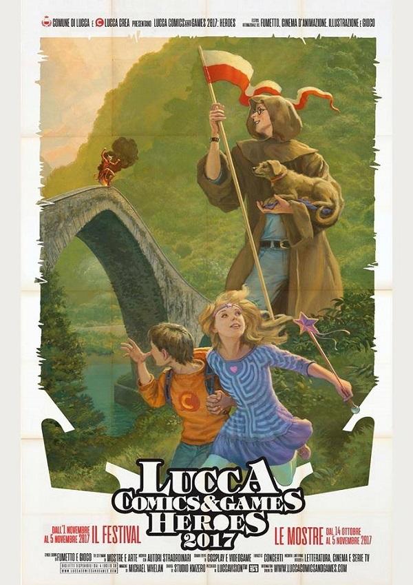 Poster ufficiale Lucca Comics & Games 2017