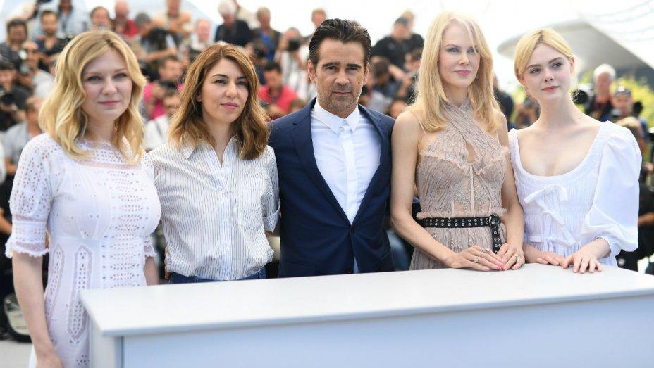 Il cast di The Beguiled al photocell a Cannes 2017