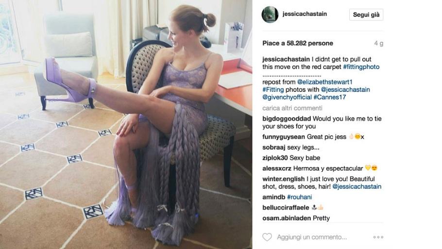Jessica Chastain su Instagram