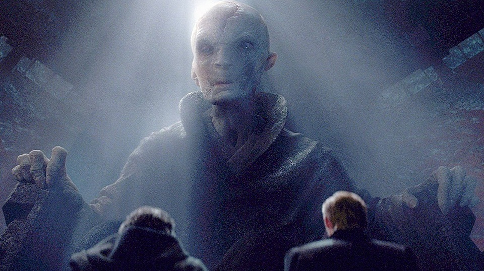 Il Leader Supremo Snoke di Star Wars