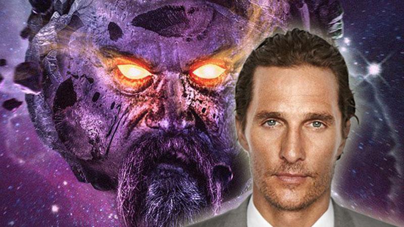 Matthew McConaughey nei panni di Ego Il pianeta vivente