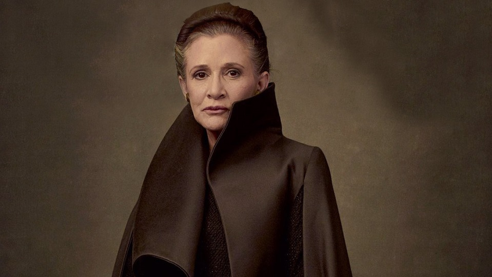 Carrie Fisher in Star Wars: Gli ultimi Jedi