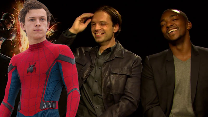 Anthony Mackie e Sebastian Stan prendono in giro Spider-Man