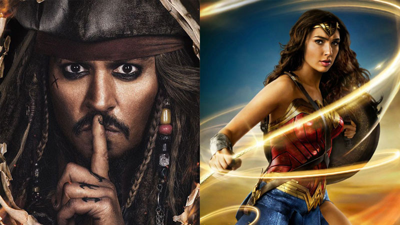 Pirati dei Caraibi batte Wonder Woman al Box Office Italia