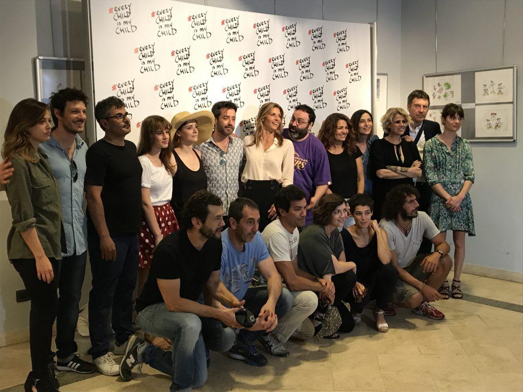 #EveryChildisMyChild gli artisti riuniti alla Casa del Cinema