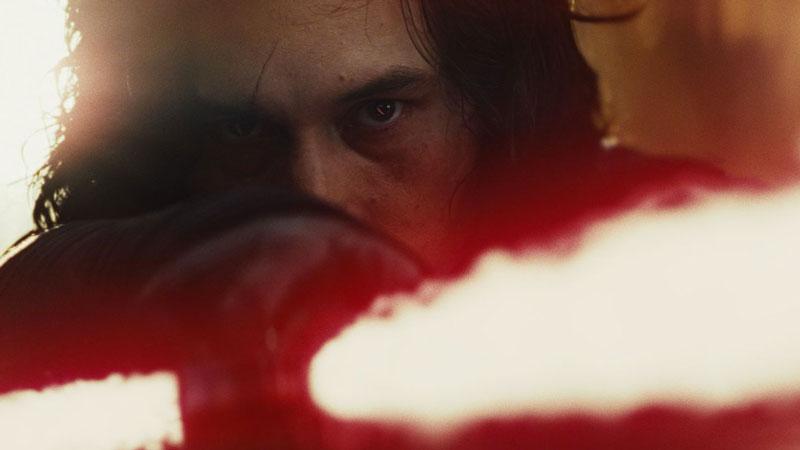 Kylo Ren in Star Wars: Gli Ultimi Jedi