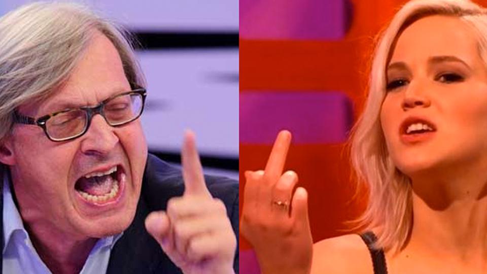 Sgarbi contro Jennifer Lawrence