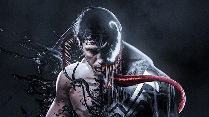 Tom Hardy è Venom in una fan art