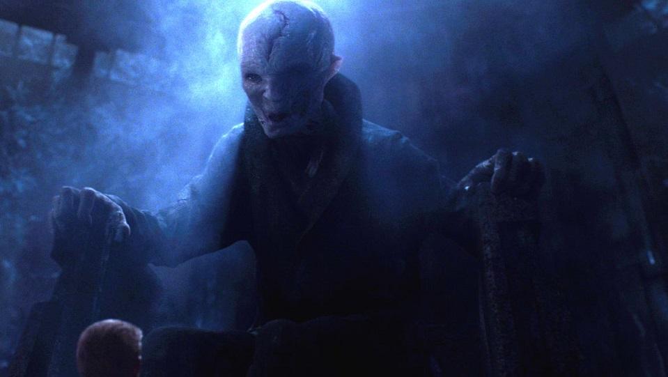 Il Leader Supremo Snoke in Star Wars