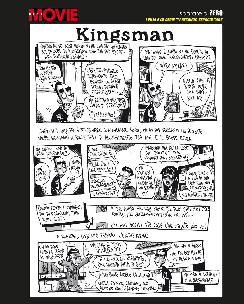La tavola di Zerocaclaer su Kingsman