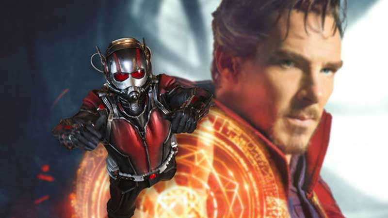 Ant-Man e Doctor Strange sul set di Avengers Infinity War