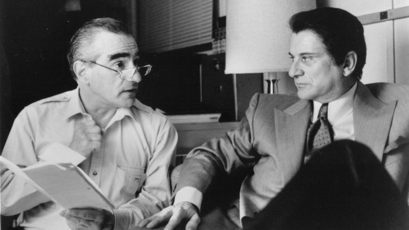 Martin Scorsese e Joe Pesci sul set di Casinò