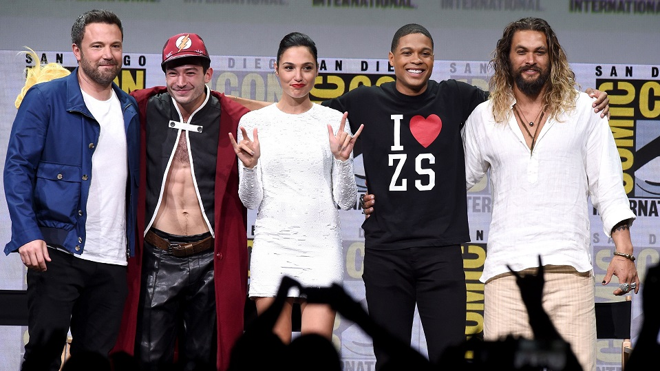 Il cast di Justice League al Comic-Con