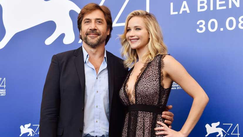 Jennifer Lawrence e il cast di Madre! al Lido