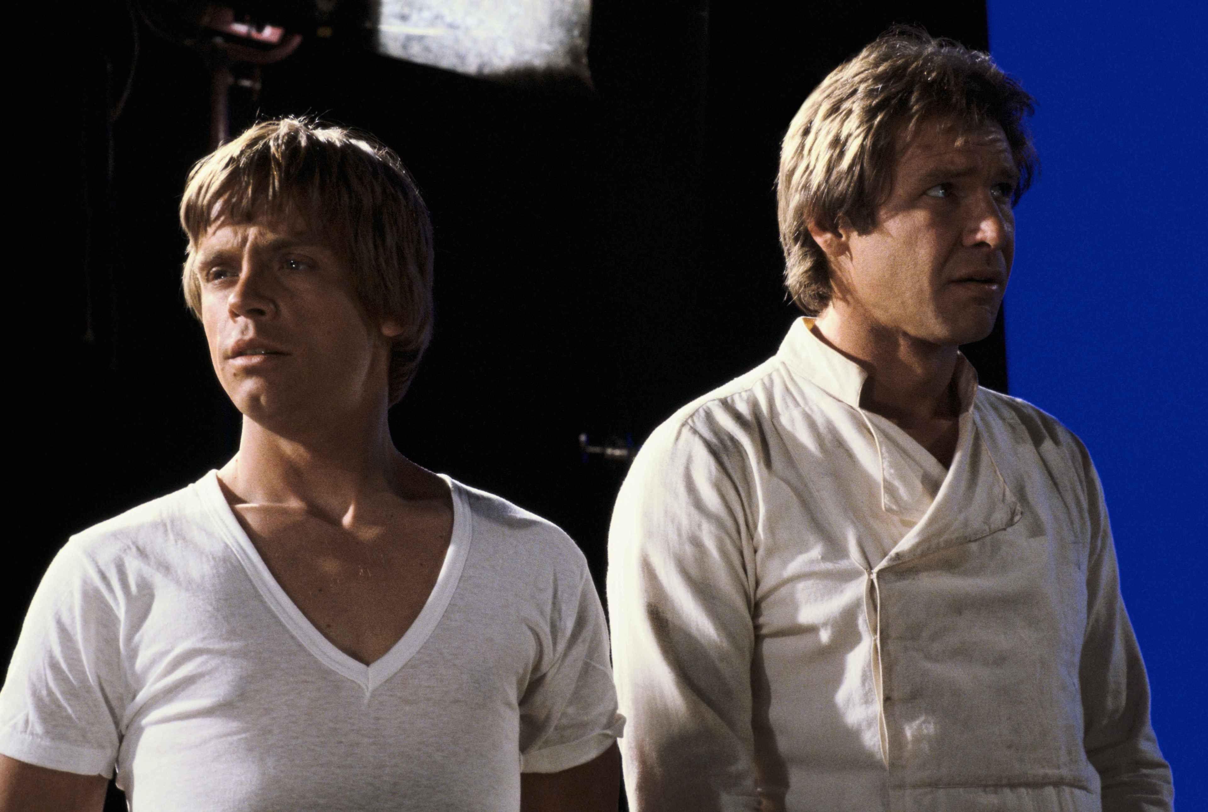 Mark Hamill ed Harrison Ford in Star Wars