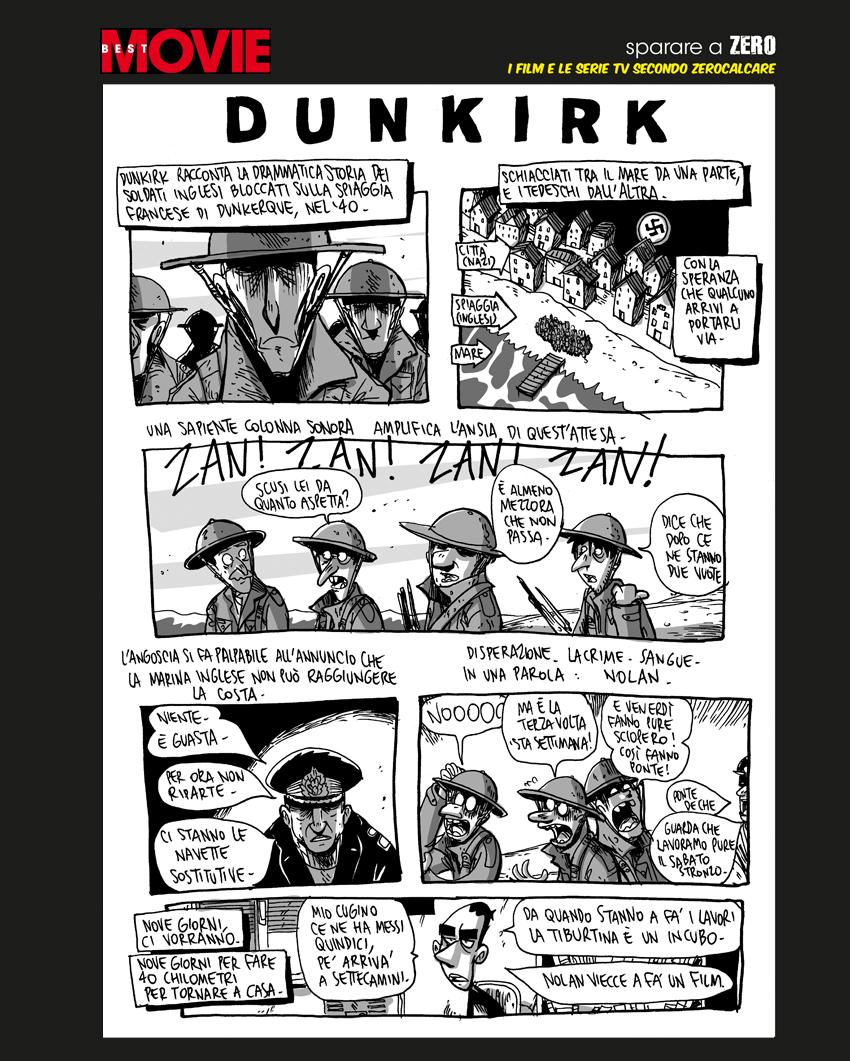 La tavola di Zerocalcare su Dunkirk