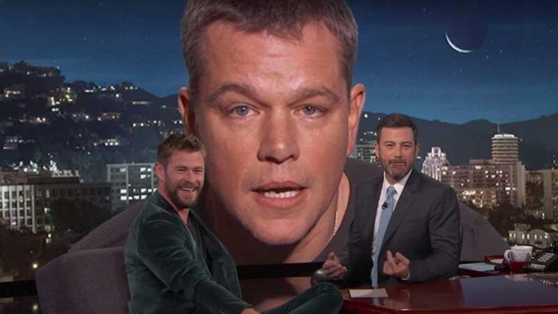 Matt Damon si intrufola nell'intervista di Thor: Ragnarok