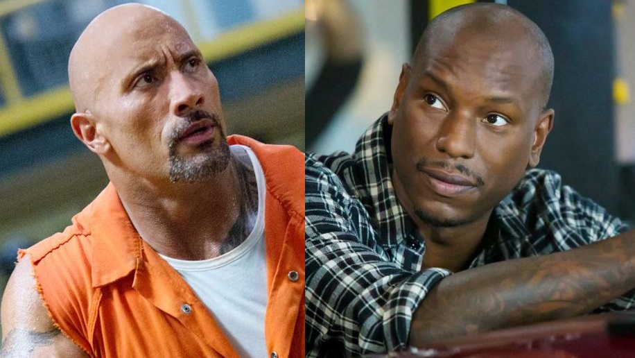 The Rock e Tyrese Gibson in Fast & Furious