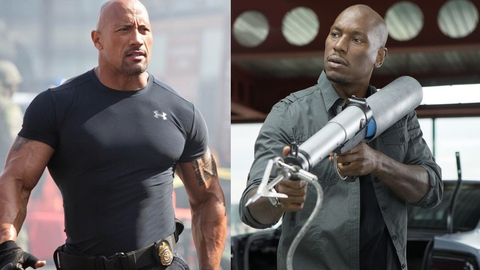 The Rock e Tyrese Gibson / Fast & Furious