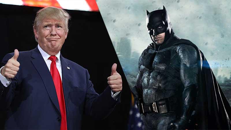 Donald Trump appoggia il Batman di Ben Affleck in Justice League