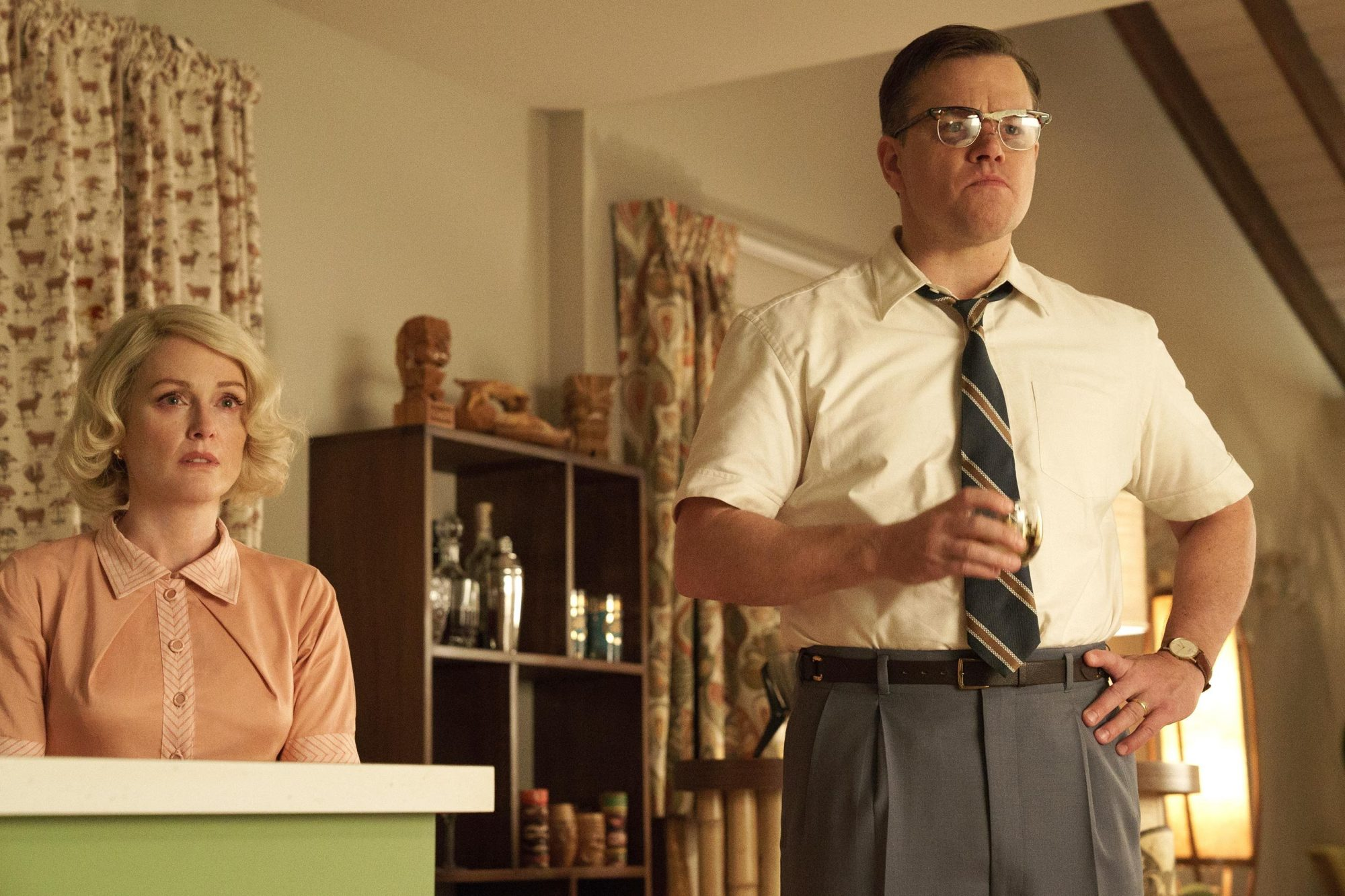 Matt Damon e Julianne Moore in Suburbicon