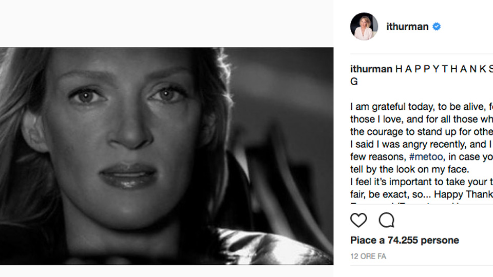 Uma Thurman su Instagram