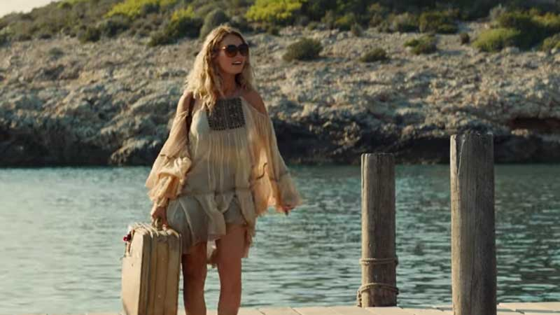 Lily James è Donna in MammaMia! Here We Go Again