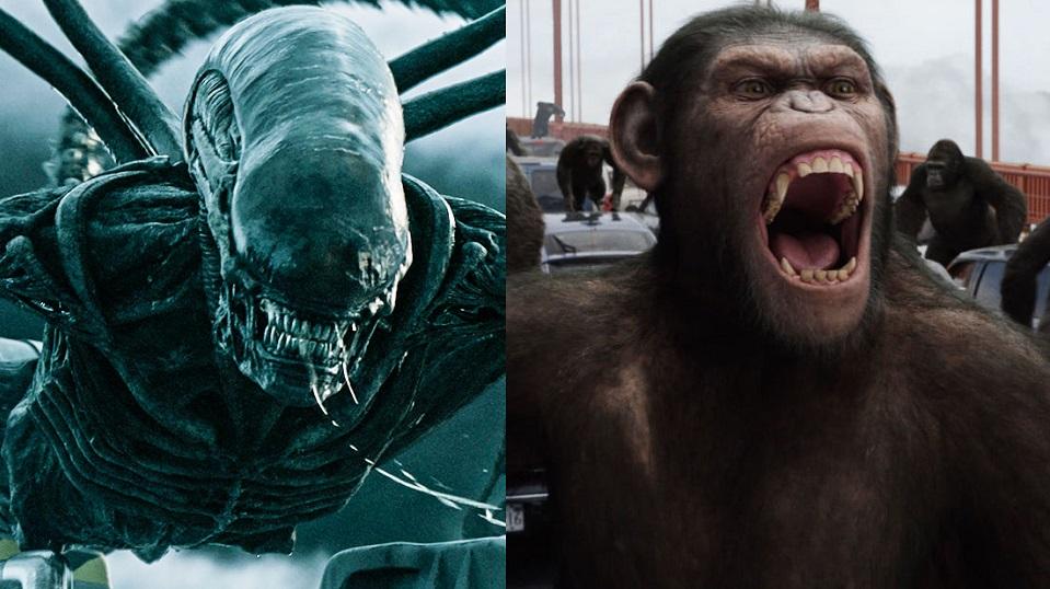 Alien e Il Pianeta delle scimmie