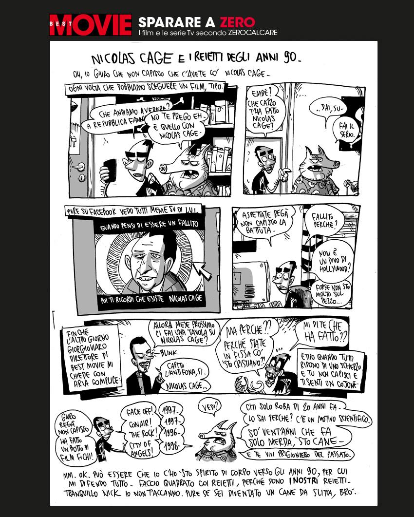 Zerocalcare e Nicolas Cage