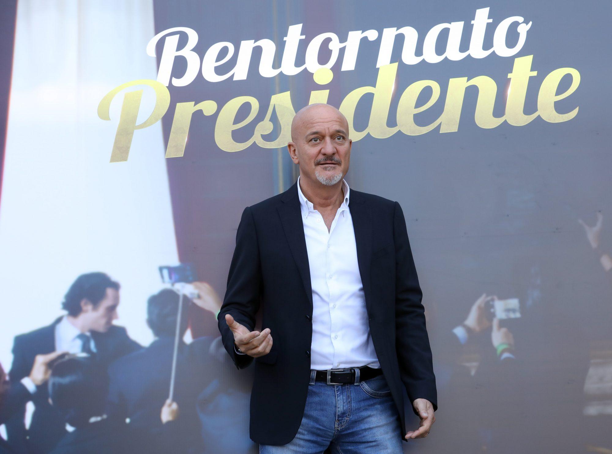 Claudio Bisio alla conferenza stampa di Bentornato Presidente!