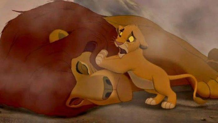 Il Re Leone Mufasa morte