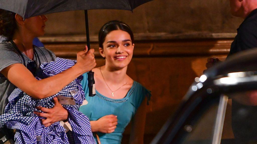 Rachel Zegler sul set di West Side Story