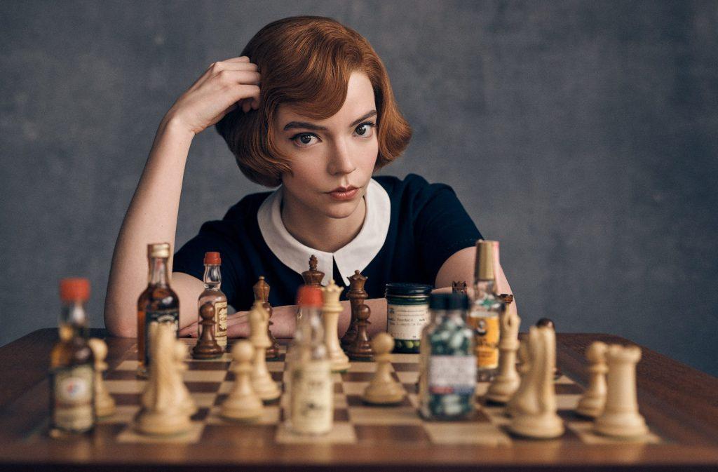 la regina degli scacchi miniserie record Netflix